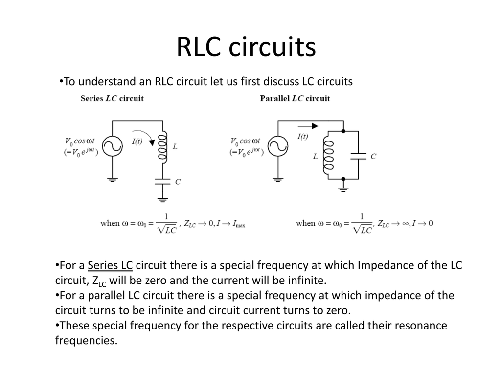 Rlc Circuit Review Solve This Second Order Differential Equation For A Series
