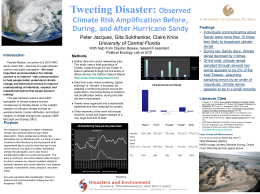 NCSE Tweeting Disaster Poster - UCF Political Science