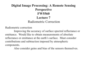 Digital Image Processing: A Remote Sensing Perspective FW5560