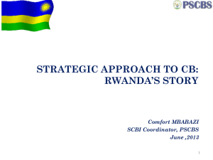 STRATEGIC CAPACITY BUILDING INITIATIVES