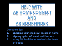 Clickon the word AR below to learn more about AR Home Connect