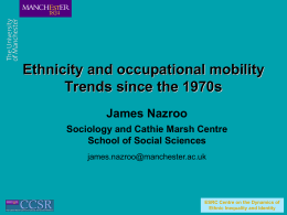 Ethnicity and occupational mobility: trends since the 1970s
