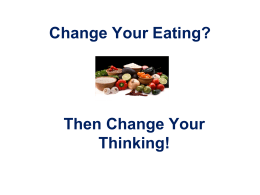 Change Your Eating?
