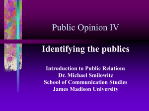Public Opinion IV - James Madison University
