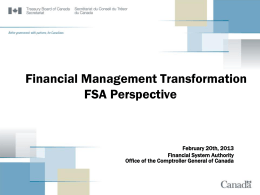 Financial Management Transformation