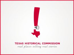 PowerPoint w/ audio - Texas Historical Commission