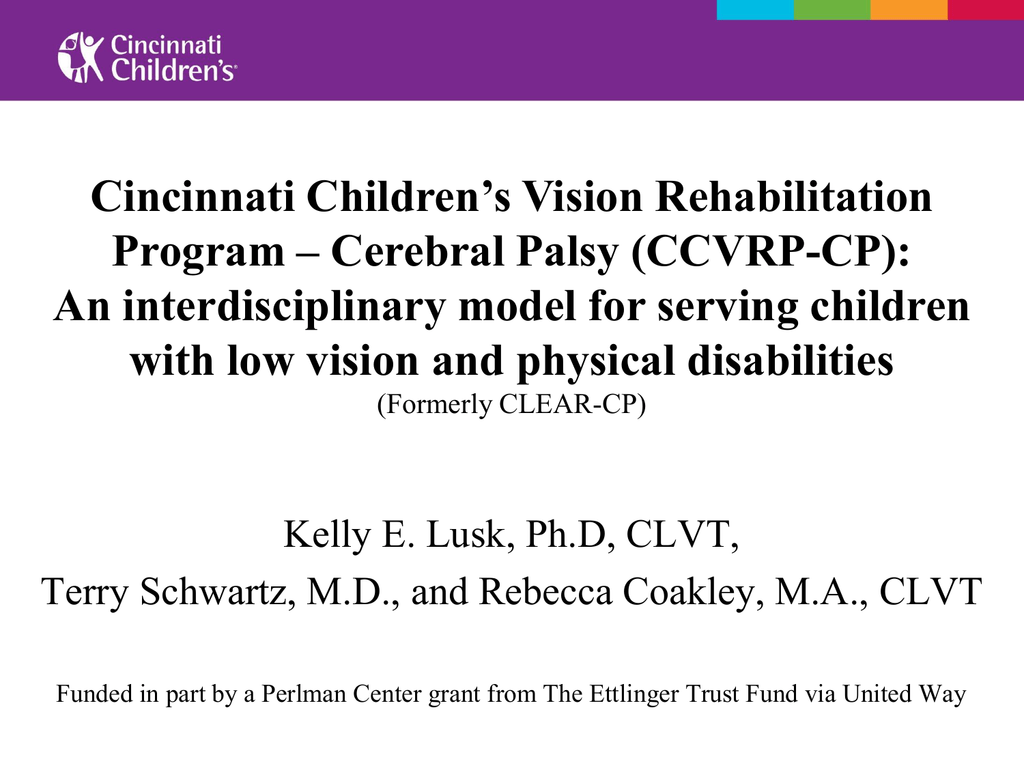 Ccvrp Cp Association For Education And Rehabilitation Of The Blind