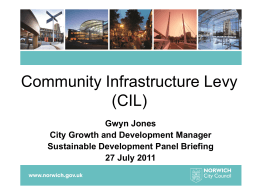 Community Infrastructure Levy (CIL) presentation (1.35 Mb ppt)