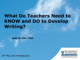 What do teacher need to know and do to develop writing?