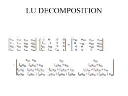 LU Decomposition of a Matrix