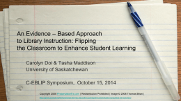 Flipping the classroom to enhance student learning