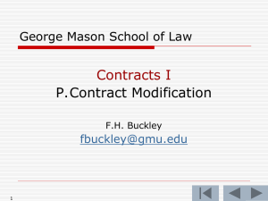 P. Contract Modification
