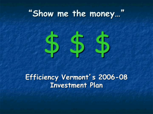 Show me the money… - Green Mountain Power