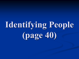 2. Identifying People 1 (page 40)