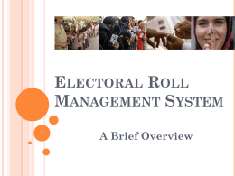 Electoral Roll Management System