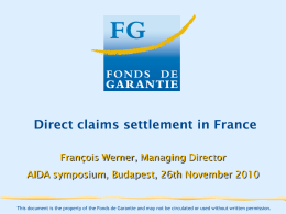 Direct claims settlement in France