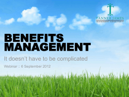 benefits map - Tanner James Management Consultants