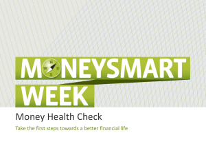 Money Health Check