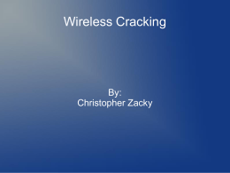 Wireless Cracking