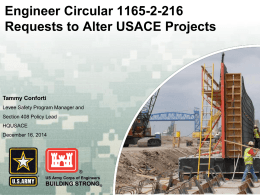 Engineer Circular 1165-2-216 Requests to Alter USACE