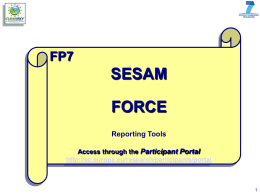 02 - Reporting for Partners - I.T. Tools SESAM and FORCE