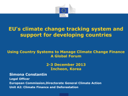 Session 2.6 EC - Climate Change Finance and Development