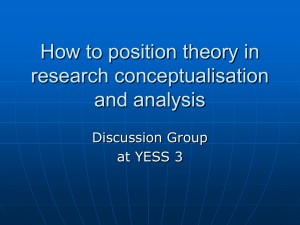 How to position theory in research conceptualisation and analysis