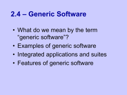 Generic Software