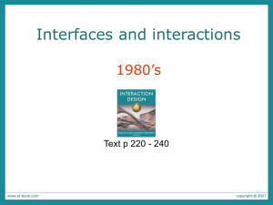 Interfaces and Interactions: 1980`s