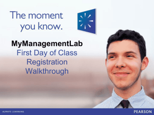 MyManagementLab First Day of Class PPT