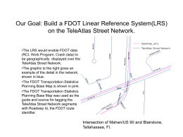 Goal: Build a Linear Reference System using the