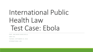 International Public Health Law, Test Case: Ebola