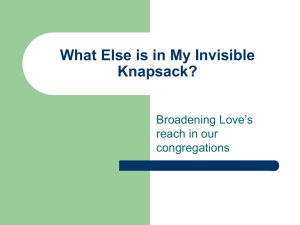 What Else is in My Invisible Knapsack?