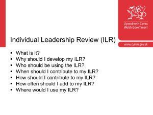 Completing your ILR