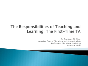 The Responsibilities of Teaching and Learning