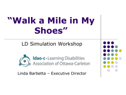 Walk a Mile in My Shoes Workshop