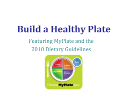 Build a Healthy Plate Presentation