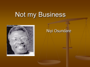 Not my Business by Niyi Osundare