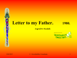 Letter to my Father.