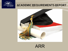 Academic Requirement Report