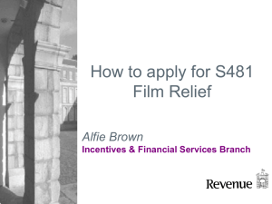 How to apply for S481 relief