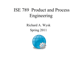 IE 550 Manufacturing Systems - Industrial and Systems Engineering