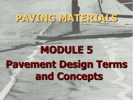 Pavement Structure and Materials