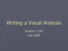 Writing a Visual Analysis