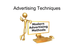 advertising techniques Power Point