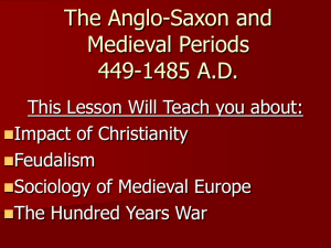 The Anglo-Saxon and Medieval Periods 449