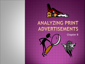 "Chapter 8, ""Analyzing Print Advertisements"""
