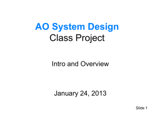 PowerPoint Presentation - AO System Design