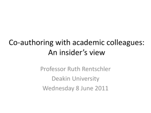 How can I co-author with academic colleagues?