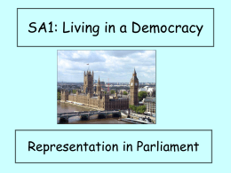 Representation in Parliament